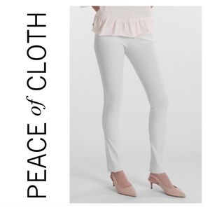 PEACE OF CLOTH Twiggy Slim in White Blossom Twill